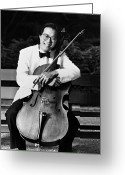 Player Greeting Cards - Yo-yo-ma (1955- ) Greeting Card by Granger