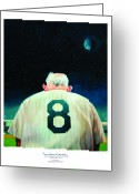 Famous Baseball Stadium Greeting Cards - Yogi Bids Farewell Greeting Card by Gregg Hinlicky