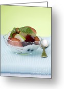 Yoghurt Dip Greeting Cards - Yogurt and fruit  Greeting Card by Shahar Tamir