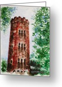 Most Painting Greeting Cards - Yokahu Tower  Greeting Card by Zaira Dzhaubaeva