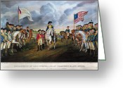 Rebellion Greeting Cards - Yorktown: Surrender, 1781 Greeting Card by Granger