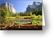 Parks Greeting Cards - Yosemite  Greeting Card by Craig Sanders