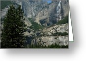 Yosemite Creek Greeting Cards - Yosemite Falls 14 Greeting Card by LeeAnn McLaneGoetz McLaneGoetzStudioLLCcom