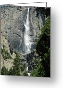 Yosemite Creek Greeting Cards - Yosemite Falls 4 Greeting Card by LeeAnn McLaneGoetz McLaneGoetzStudioLLCcom