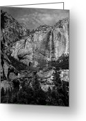Yosemite Creek Greeting Cards - Yosemite Falls Greeting Card by Troy Montemayor