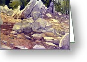Tuolumne Greeting Cards - Yosemite Granite 77 Greeting Card by Donald Maier