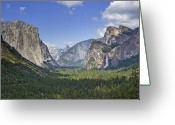 Big Sky Greeting Cards - Yosemite National Park - California Greeting Card by Brendan Reals