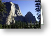 Acrylic Framed Greeting Cards - Yosemite Park El Capitan  Greeting Card by The Kepharts