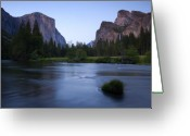 Veil Greeting Cards - Yosemite Twilight Greeting Card by Mike  Dawson
