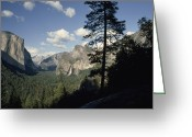 Tunnel View Greeting Cards - Yosemite Valley From Tunnel View Greeting Card by Gordon Wiltsie