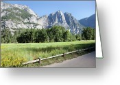 California Adventure Park Greeting Cards - Yosemite Valley Meadow, El Capitan, Staycation Greeting Card by Steven Lam