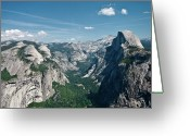 Point Park Greeting Cards - Yosemite Valley Greeting Card by Photo by Lars Oppermann