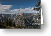 C Casch Greeting Cards - Yosemites Half Dome Panorama Greeting Card by C Casch