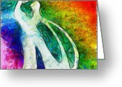 Husband Digital Art Greeting Cards - You And I 3 Greeting Card by Angelina Vick