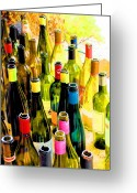 Wine  Greeting Cards - You are invited to a wine tasting... Greeting Card by Margaret Hood