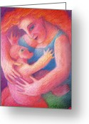 Spiritual Pastels Greeting Cards - You Are My Only One Greeting Card by Angela Treat Lyon