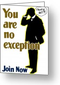 Great Mixed Media Greeting Cards - You Are No Exception Greeting Card by War Is Hell Store