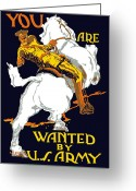 World War One Greeting Cards - You Are Wanted By US Army Greeting Card by War Is Hell Store