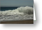 Crashing Waves Greeting Cards - You Came Crashing Into Me Greeting Card by Laurie Search