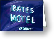 Neon Sign Greeting Cards - You Check in But You Dont Check out Greeting Card by Russell Pierce