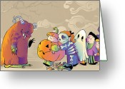 Trick Or Treat Greeting Cards - You First Greeting Card by CarrieAnn Reda