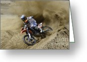 Motorcycle Racing Greeting Cards - You Gotta Love It Greeting Card by Bob Christopher