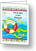 Friend Digital Art Greeting Cards - You have been a real lifesaver Greeting Card by Karon Melillo DeVega