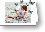 Pebbles Digital Art Greeting Cards - You never know what a stone can hide Greeting Card by Gun Legler