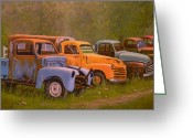 Chev Pickup Greeting Cards - You Rest You Rust Greeting Card by Paul K Hill