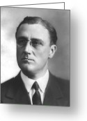 Fdr Greeting Cards - Young Franklin Delano Roosevelt Greeting Card by War Is Hell Store