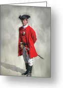 Defeat Greeting Cards - Young George Washington Portrait  Greeting Card by Randy Steele