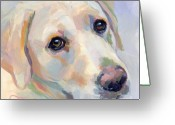 Animal Art Greeting Cards - Young Man Greeting Card by Kimberly Santini