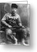 Theodore Greeting Cards - Young Teddy Roosevelt Greeting Card by War Is Hell Store