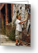 Nyc Graffiti Greeting Cards - Young Vandal Greeting Card by Gordon Dean II