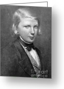 Chevalier Greeting Cards - Young Victor Hugo, French Author Greeting Card by Photo Researchers