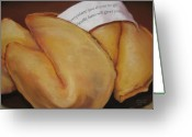 Food Pastels Greeting Cards - Your Good Fortune Greeting Card by Outre Art Stephanie Lubin Natalie Eisen