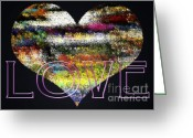 E Black Greeting Cards - Your Heart Is My Pinata Greeting Card by Gwyn Newcombe