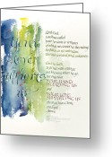 Sympathy Painting Greeting Cards - Your Love Supports Us Greeting Card by Judy Dodds