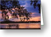 Sunset Posters Greeting Cards - Your Table is Ready Greeting Card by James Bo Insogna