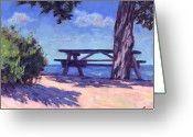 Sky Painting Greeting Cards - Your Table is Waiting Greeting Card by Michael Camp