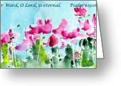 Bible Greeting Cards - Your Word O Lord Greeting Card by Anne Duke