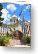 Legislature Greeting Cards - Youre Doin Fine Oklahoma Greeting Card by Ricky Barnard