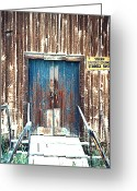 Dawson City Greeting Cards - Yukon Storage Shed Dawson City Yukon Greeting Card by Merton Allen