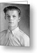 1950s Portraits Photo Greeting Cards - Yuri Gagarin As A Teenager, 1950 Greeting Card by Ria Novosti