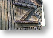 Door Hinges Greeting Cards - Z Greeting Card by David Rucker