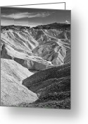 Great Point Greeting Cards - Zabriskie Point Greeting Card by Jauder Ho / jauderho.com