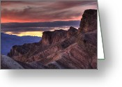 National  Parks Greeting Cards - Zabriskie Point Greeting Card by Peter Tellone