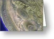 Foothill Greeting Cards - Zagros Mountains, Iran Greeting Card by NASA / Science Source