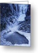 Zapata Greeting Cards - Zapata Falls Greeting Card by Aleks Kozakowski