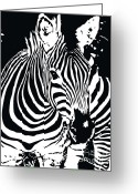 Award Digital Art Greeting Cards - zebra-01D Greeting Card by Eakaluk Pataratrivijit